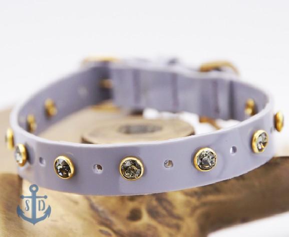 The Jeanne Grey PVC Dog Collar